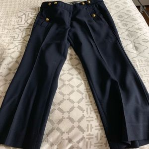J Crew kick crop sailor pant